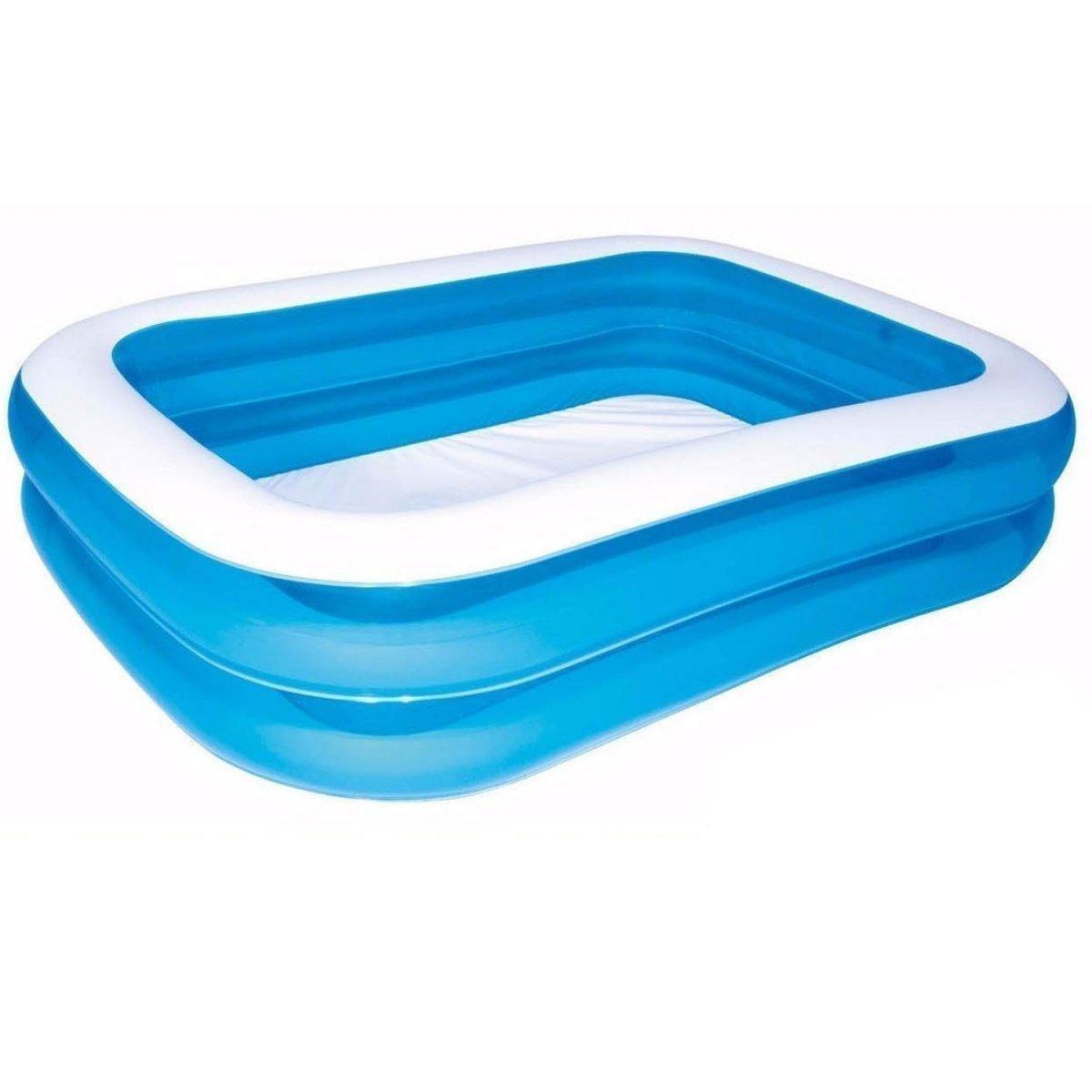 Детский надувной бассейн Bestway 54005, 201 х 150 х 51 см, голубой