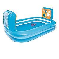 Детский надувной бассейн Bestway 54170 Тир, 237 х 152 х 94 см, с мячом