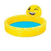 Детский надувной бассейн Bestway 53081 Емодзи, 165 х 144 х 69 см