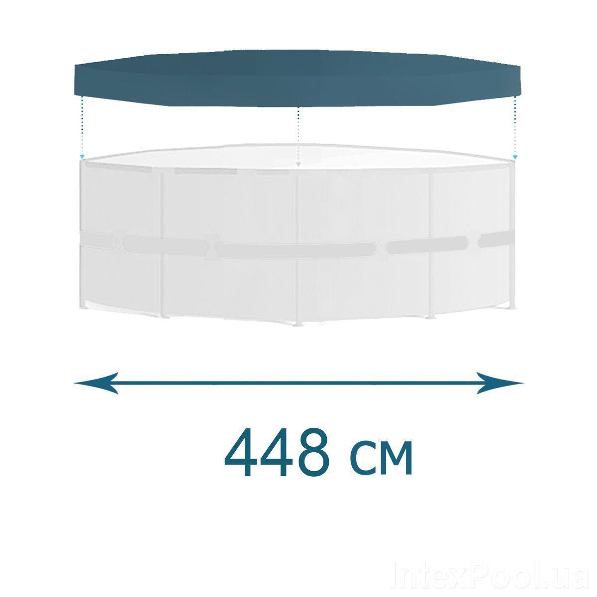 Тент для бассейна Bestway 58249 box, каркасный 488 см