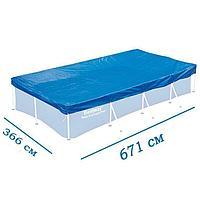 Тент для бассейна Bestway 58379 box, каркасный 671 х 366 см