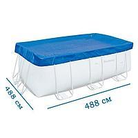 Тент для бассейна Bestway 58457 box, каркасный 488 х 488 см
