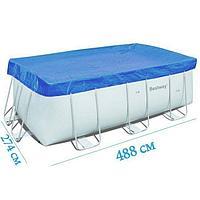 Тент для бассейна Bestway 58472 box, каркасный 488 х 274 см