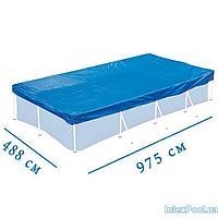Тент - чехол для каркасного Intex 28372 box, 975 х 488 см