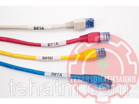 LAT-27-361-1 кабельные маркеры для диаметра 14 мм на листе А4