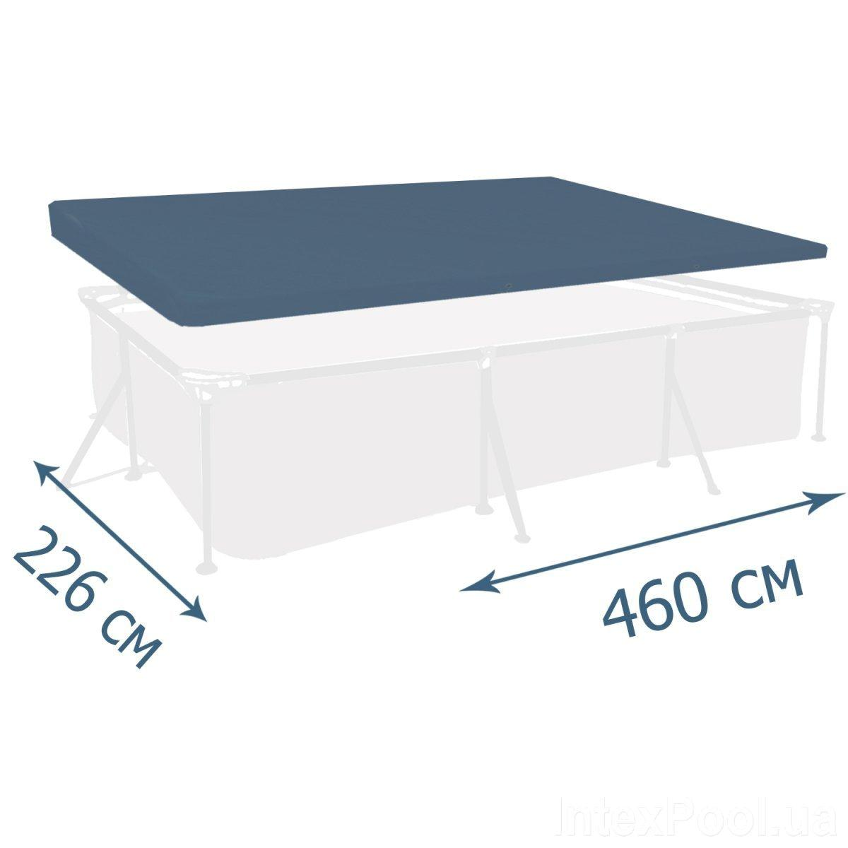 Тент - чехол для каркасного бассейна Intex 28039, 460 х 226 см