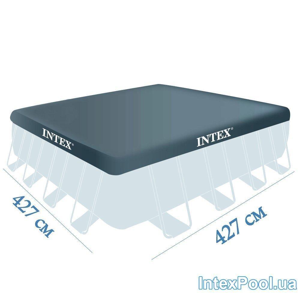 Тент для бассейна Intex 28764 box, каркасный 427 х 427 см