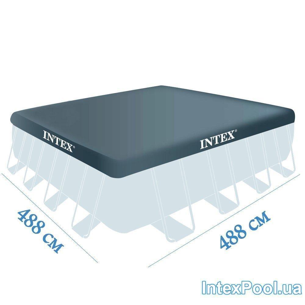 Тент для бассейна Intex 28766 box, каркасный 488 х 488 см