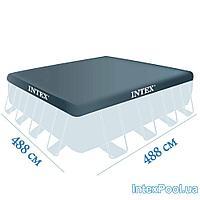 Тент для бассейна Intex 28766 box, каркасный 488 х 488 см, фото 1