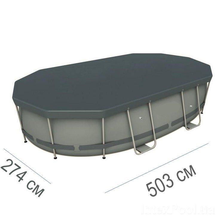 Тент для бассейна Intex 44796 box, овальный 503 х 274 см
