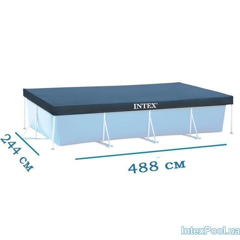 Тент для бассейна Intex 28318 box, каркасный 488 х 244 см