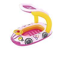 Надувная лодочка Bestway 34103, с навесом, 98 х 66 см, розовый
