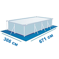 Подстилка для бассейна Bestway 55470, 671 х 366 см, прямоугольная