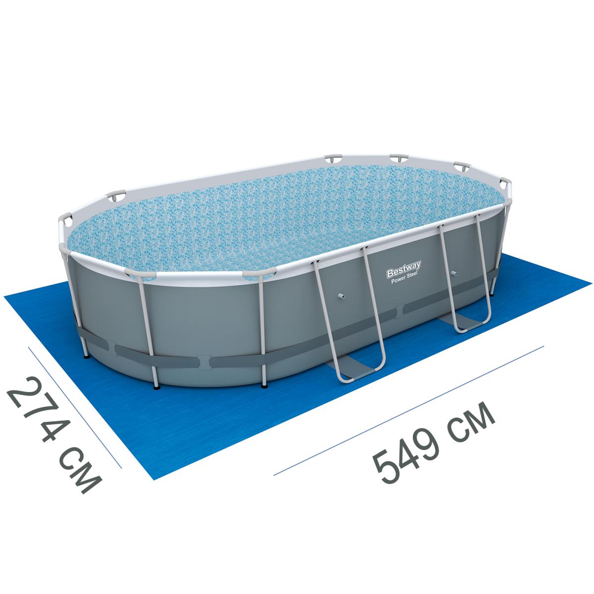 Подстилка для бассейна Bestway 58139, 58266 box, 549 х 274 см