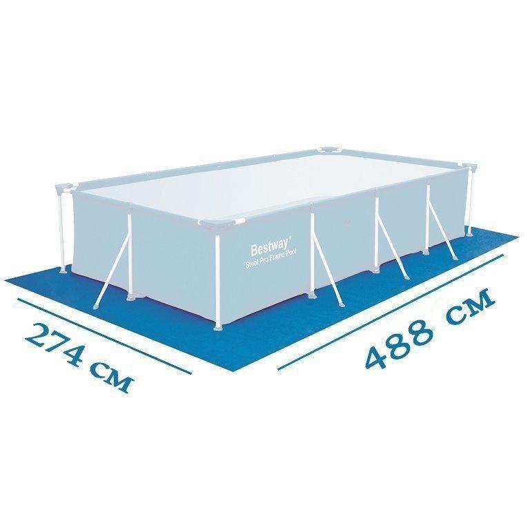 Подстилка для бассейна Bestway 58473 box, 488 х 274 см