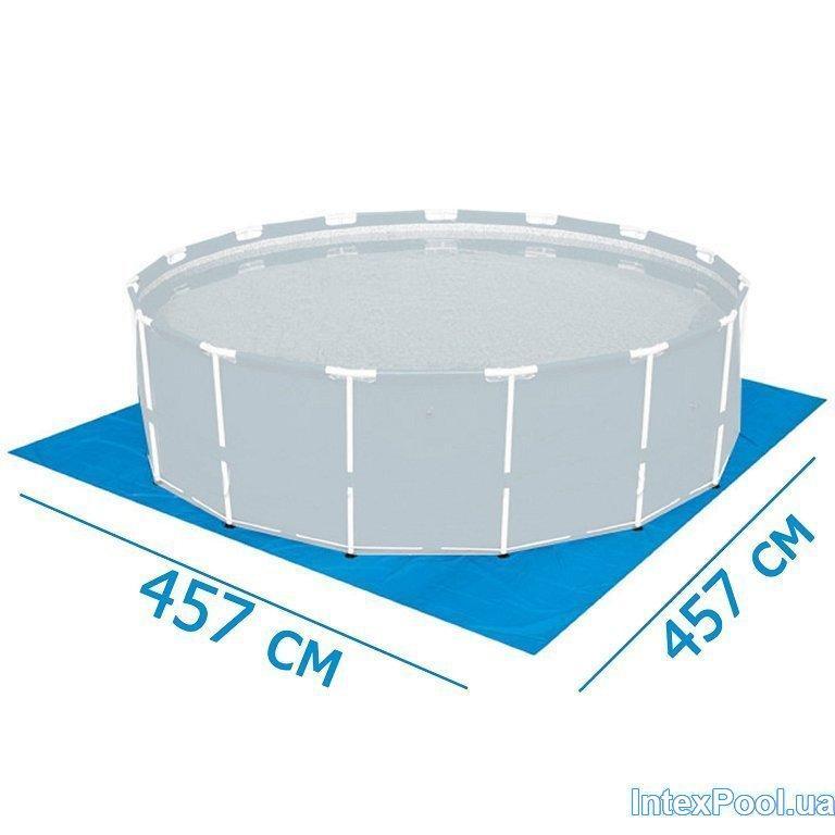 Подстилка для бассейна Intex 18932 box, 457 х 457 см, квадратная