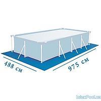 Подстилка для бассейна Intex 28373 box, 975 х 488 см, прямоугольная