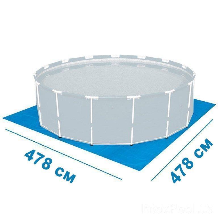 Подстилка для бассейна Intex 55384, 478 х 478 см, квадратная