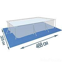 Подстилка для бассейна IntexPool 55008, 488 х 305, прямоугольная