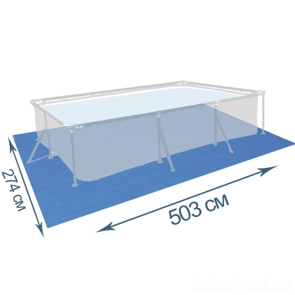 Подстилка для бассейна IntexPool 55011, 503 х 274 см, прямоугольная