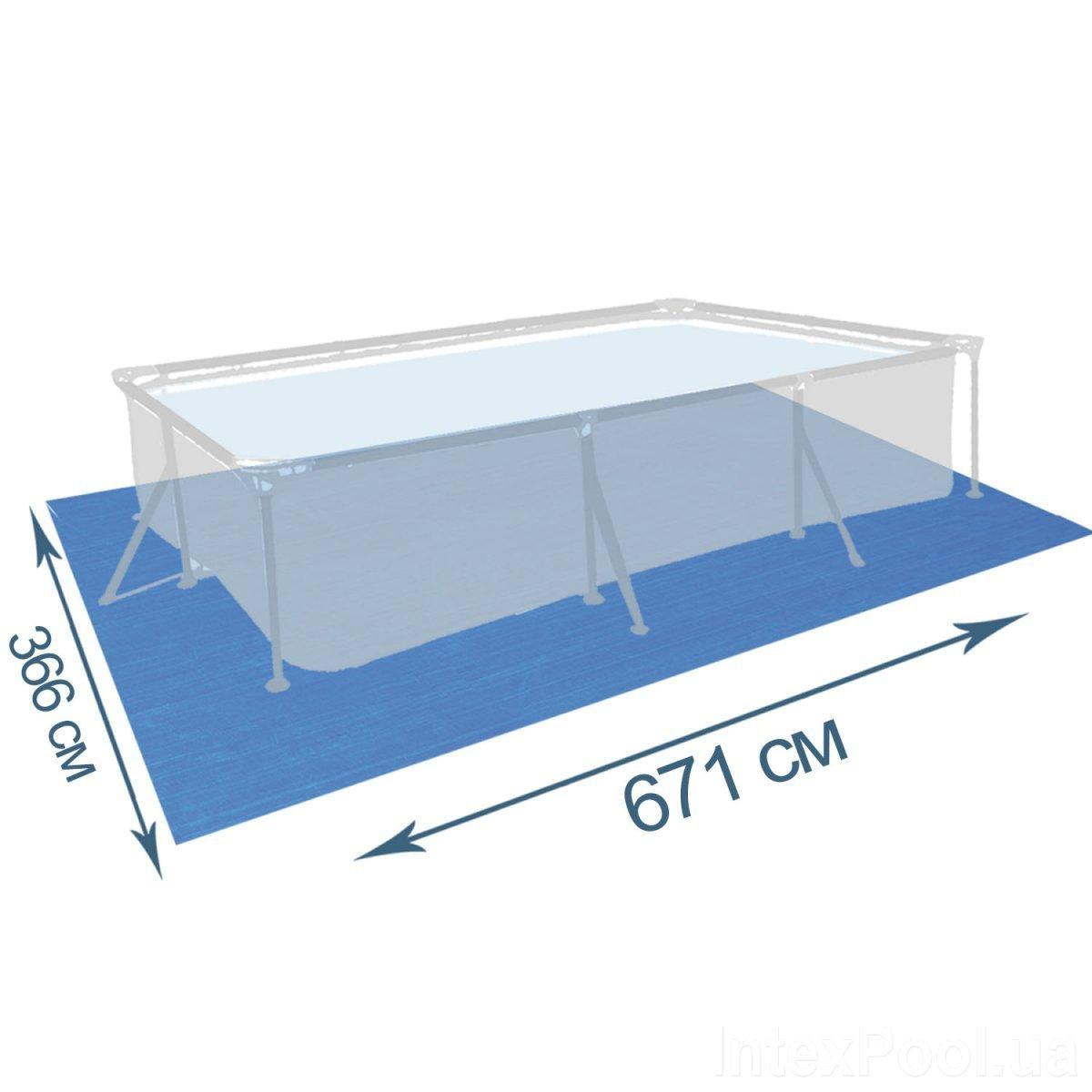 Подстилка для бассейна IntexPool 55017, 671 х 366 см, прямоугольная