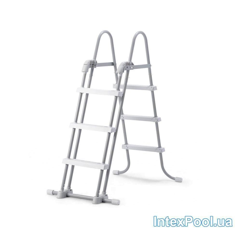 Лестница для бассейна Intex 28075 box (107 см), со съемными ступенями