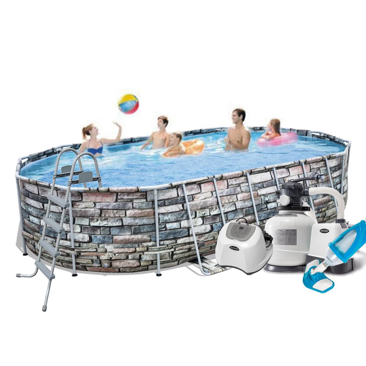 Каркасный бассейн Bestway  гидромассажем,  подстилка, лестница, гидромассаж, подсветка)