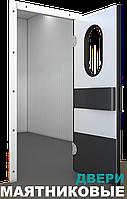 Маятниковая дверь одностворчатая с изогнутым отбойником