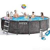 Каркасный бассейн Intex 26742 - 5, 457 x 122 см (3 785 л/ч, набор, лестница, тент, подстилка), фото 1
