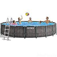 Каркасный бассейн Intex 26744 - 1 New, 549 x 122 см (лестница, подстилка,тент)