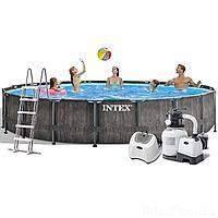 Каркасный бассейн Intex 26744 - 11 New, 549 x 122 см (5 г/ч, 6 000 л/ч, лестница, набор, подстилка,тент)