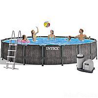 Каркасный бассейн Intex 26744 New, 549 x 122 см (5 678 л/ч, лестница, тент, подстилка)
