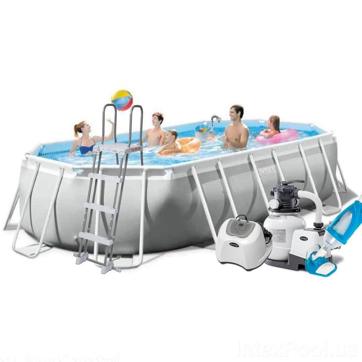 Каркасный бассейн Intex 26796 - 11, 503 x 274 x 122 см (5г/ч, 6 000 л/ч, набор, лестница, тент, подстилка)