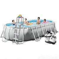 Каркасный бассейн Intex 26796 - 7, 503 x 274 x 122 см (6 000 л/ч, набор, лестница, тент, подстилка)