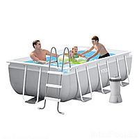 Каркасный бассейн Intex 26784 - 5, 300 х 175 х 80 см, (3 785 л/ч, лестница, тент, подстилка)