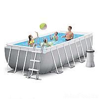 Каркасный бассейн Intex 26788-4, 400 x 200 x 100 см (2 006 л/ч, лестница, тент, подстилка), фото 1