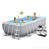 Каркасный бассейн Intex 26788-6, 400 x 200 x 100 см (4 500 л/ч, лестница, тент, подстилка)