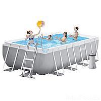 Каркасный бассейн Intex 26792 - 6, 488 x 244 x 107 см (4 500 л/ч, лестница, тент, подстилка)