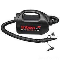 Электрический насос для надувания Intex 68609 от сети, прикуривателя (220-240 V, 12 V, 1 100 л/мин)