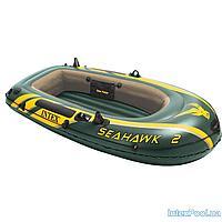 Двухместная надувная лодка Intex 68347 Seahawk 2 Set, 236 х 114 х 41 см,веслами и насосом