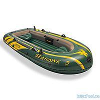 Трехместная надувная лодка Intex 68349 Seahawk 3, 295 х 137 х 43 см, фото 1