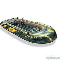 Четырехместная надувная лодка Intex 68350 Seahawk 4, 351 х 145 х 48 см, фото 1