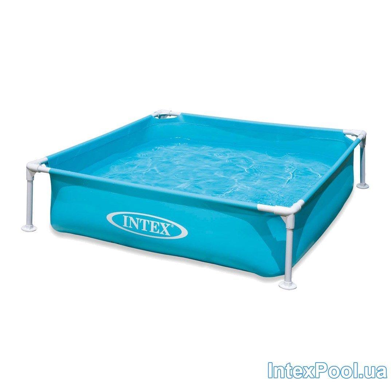 Каркасный бассейн Intex 57171, 120 х 120 х 30 см, голубой