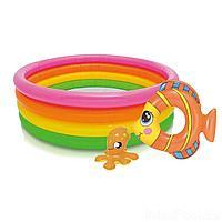 Детский надувной бассейн Intex 56441-2, 168 х 46 см, с кругом, с игрушкой, фото 1