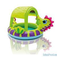 Детский надувной бассейн Intex 57110 Морской конек с навесом, 188 х 147 х 104 см
