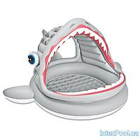 Детский надувной бассейн Intex 57120 Пасть акулы, 201 х 198 х 109 см