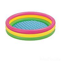 Детский надувной бассейн Intex 57412 Радужный, 114 х 25 см, фото 1
