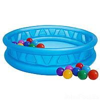 Детский надувной бассейн Intex 58431-1 Летающая тарелка, 188 х 46 см,  с шариками 10шт