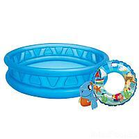 Детский надувной бассейн Intex 58431-2, 188 х 46 см, с кругом, с игрушкой