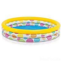 Детский надувной бассейн Intex 58449 Геометрия, 168 х 38 см